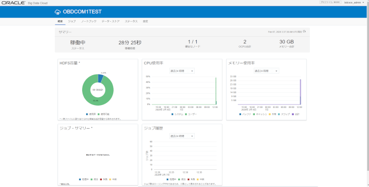 Oracle Big Data Cloud Compute Edition インスタンス作成(作成編)10