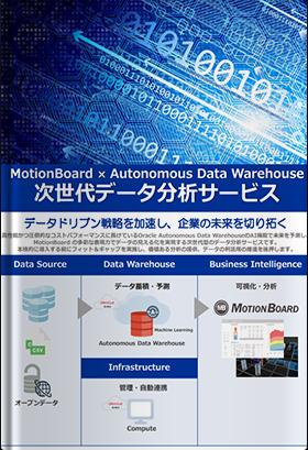 カタログ:MotionBoard × Autonomous Data Warehouse 次世代データ分析サービス